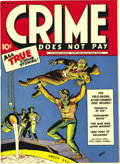 Golden Age (1938-1955):Crime, Crime Does Not Pay #32 Mile High pedigree (Lev Gleason, 1944) Condition: NM. This book's got one of the most fiendish covers...