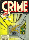 Golden Age (1938-1955):Crime, Crime Does Not Pay #34 Mile High pedigree (Lev Gleason, 1944) Condition: VF/NM. Editor/writer/artist Charles Biro knew how t...