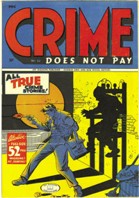 """Crime Does Not Pay #42 Mile High pedigree (Lev Gleason, 1945) Condition: NM-. The Overstreet Guide has """"broken out&..."""