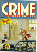 Golden Age (1938-1955):Crime, Crime Does Not Pay #46 Mile High pedigree (Lev Gleason, 1946) Condition: NM-. Here's a kidnapping cover that could only be o...