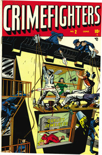 Crime Fighters #2-4 Mile High pedigree Group (Atlas, 1948). The true-crime tales presented here are supplemented by phot...