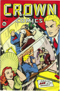 Golden Age (1938-1955):Miscellaneous, Crown Comics #4 Mile High pedigree (Golfing, Inc., 1945) Condition:NM-. Matt Baker is credited with cover and interior art ...