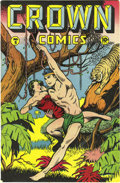 """Golden Age (1938-1955):Adventure, Crown Comics #5 Mile High pedigree (Golfing, Inc., 1946) Condition: VF/NM. This issue's """"Ace of the Newsreels"""" story has all..."""
