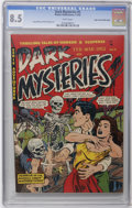 Golden Age (1938-1955):Horror, Dark Mysteries #5 Mile High pedigree (Master Publications, 1952)CGC VF+ 8.5 White pages. Doug Wildey art in this white-page...