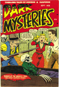 Golden Age (1938-1955):Horror, Dark Mysteries #8 (Master Publications, 1952) Condition: VF/NM.This pre-Code horror series managed to put a skeleton on alm...