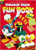 Golden Age (1938-1955):Cartoon Character, Dell Giant Comics Donald Duck Fun Book #2 File Copy (Dell, 1954) Condition: VF+. Chock full of puzzles, cut-outs, and the li...