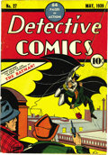 Golden Age (1938-1955):Superhero, Detective Comics #27 (DC, 1939) Condition: Apparent VG. This is a comic most every fan dreams of acquiring, the first appear...