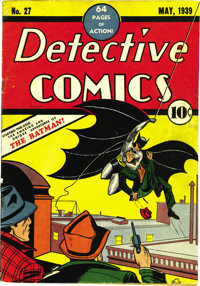 Detective Comics #27 (DC, 1939) Condition: Apparent VG. This is a comic most every fan dreams of acquiring, the first ap...