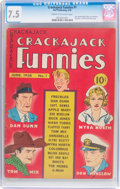 Golden Age (1938-1955):Humor, Crackajack Funnies #1 (Dell, 1938) CGC VF- 7.5 Cream to off-white pages....