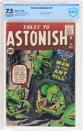 Silver Age (1956-1969):Superhero, Tales to Astonish #27 (Marvel, 1962) CBCS VF- 7.5 Off-white towhite pages....