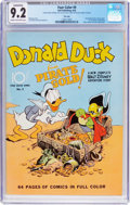 Golden Age (1938-1955):Cartoon Character, Four Color #9 Donald Duck - File Copy (Dell, 1942) CGC Conserved NM- 9.2 Cream to off-white pages....
