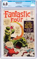 Silver Age (1956-1969):Superhero, Fantastic Four #1 (Marvel, 1961) CGC FN 6.0 White pages....