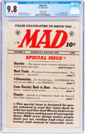 Golden Age (1938-1955):Humor, MAD #12 Gaines File Pedigree 10/12 (EC, 1954) CGC NM/MT 9.8 Off-white to white pages....