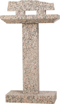 Sculpture, Jesús Bautista Moroles (American, 1950-2015). Untitled. Granite. 35 inches (88.9 cm) high. ...