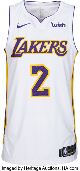 17478b00d5c ... Basketball Collectibles:Uniforms, 2017-18 Lonzo Ball Game Worn Los  Angeles Lakers Rookie ...