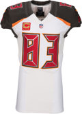 Football Collectibles:Uniforms, 2016 Vincent Jackson Game Worn Tampa Bay Buccaneers Jersey - Used 9/25 vs. Rams....