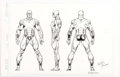 "Original Comic Art:Illustrations, Keith Pollard and Joe Rubenstein The Official Handbook of theMarvel Universe Master Edition #32 ""Rampage"" Illustr..."