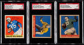 Autographs:Sports Cards, Signed 1948-49 Leaf Football SGC Authentic Trio (3)....