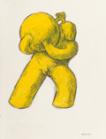 Fine Art - Work on Paper:Drawing, Tom Otterness (b. 1952). Untitled (Male), 1983. Oil stickand pencil on paper. 24-3/4 x 19 inches (62.9 x 48.3 cm) (shee...