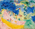 Fine Art - Painting, American:Modern  (1900 1949)  , Hans Hofmann (1880-1966). Landscape No. 130, 1934. Oil onpanel. 25 x 30 inches (63.5 x 76.2 cm). Signed and dated lower...