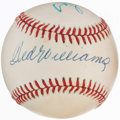 Autographs:Baseballs, Ted Williams and Stan Musial Multi-Signed Baseball. . ...