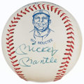 Autographs:Baseballs, Mickey Mantle 1974 Hall of Fame Single Signed Baseball.. ...
