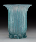 Art Glass:Lalique, R. Lalique Frosted Glass Eucalyptus Vase with Blue Patina.Circa 1925. Molded R. LALIQUE. M p. 425, No. 936. ...