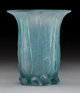 R. Lalique Frosted Glass Eucalyptus Vase with Blue Patina Circa 1925. Molded R. LALIQUE M p. 425, No. 936