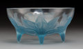 Art Glass:Lalique, R. Lalique Clear Glass Lys Bowl with Blue Patina. Circa1924. Wheel-carved R. LALIQUE, FRANCE; Engraved N 382...