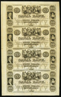 Obsoletes By State:Louisiana, New Orleans, LA- New Orleans Canal & Banking Company $20-$20-$20-$20 18__ Uncut Sheet. ...