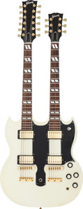 Musical Instruments:Electric Guitars, 1989 Gibson EDS-1275 White Solid Body Electric Guitar, Serial #80729587....