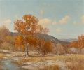 Paintings, Porfirio Salinas (American, 1910-1973). Autumn in Texas. Oil on canvas. 25 x 30 inches (63.5 x 76.2 cm). Signed lower le...