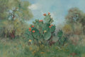 Paintings, Robert William Wood (American, 1889-1979). Cacti, 1930. Oil on canvas. 16-1/4 x 24 inches (41.3 x 61.0 cm). Signed and d...