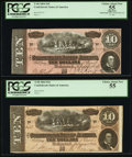 Confederate Notes:1864 Issues, T68 $10 1864 PF-21 Cr. 547; PF-27 Cr. 548.. ... (Total: 2 notes)
