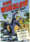 Golden Age (1938-1955):War, Don Winslow of the Navy #2 Mile High pedigree (Fawcett, 1943) Condition: NM. If you've only seen one of these impossibly fre...