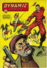 Dynamic Comics #14 Mile High pedigree (Chesler, 1945) Condition: Qualified VF/NM. This is the first time we had seen thi...