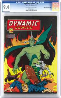 Dynamic Comics #18 Mile High pedigree (Chesler, 1946) CGC NM 9.4 Off-white to white pages. If you can't make it out in o...