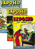 Golden Age (1938-1955):Crime, Exposed Mile High pedigree Group (D.S. Publishing, 1948-49). Two issues used in Seduction of the Innocent (#6 and 7) hig... (Total: 5 Comic Books)
