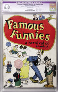 Platinum Age (1897-1937):Miscellaneous, Famous Funnies: A Carnival of Comics #nn (Eastern Color, 1933) CGCApparent FN 6.0 Moderate (P) Off-white pages. Here's the ...