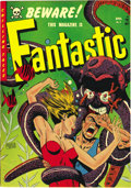Golden Age (1938-1955):Horror, Fantastic #9 (Youthful Magazines, 1952) Condition: VF. EdwardGoldfarb may not be the best-known artist, but he sure put a s...