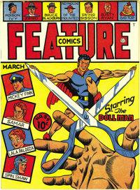 Feature Comics #54 Mile High pedigree (Quality, 1942) Condition: NM-. The Doll Man stars here, and additional proof of h...
