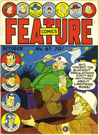 Feature Comics #61 Mile High pedigree (Quality, 1942) Condition: NM-. This series lived up to the publisher's name when...