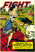 Golden Age (1938-1955):Adventure, Fight Comics #47 Mile High pedigree (Fiction House, 1946) Condition: NM-. The freshness of the cover colors here is almost b...