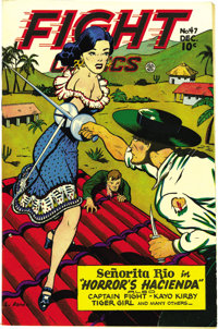 Fight Comics #47 Mile High pedigree (Fiction House, 1946) Condition: NM-. The freshness of the cover colors here is almo...