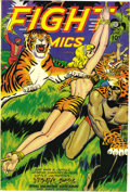 Golden Age (1938-1955):Adventure, Fight Comics #50 Mile High pedigree (Fiction House, 1947) Condition: VF. This issue's bondage cover is credited to Joe Dooli...