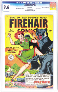 "Firehair Comics #1 Mile High pedigree (Fiction House, 1948) CGC NM+ 9.6 White pages. An exceptional copy starring ""..."