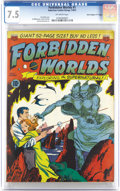 """Golden Age (1938-1955):Science Fiction, Forbidden Worlds #1 Davis Crippen (""""D"""" Copy) pedigree (ACG, 1951)CGC VF- 7.5 Off-white pages. The first 10-page story, titl..."""