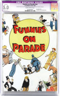 Platinum Age (1897-1937):Miscellaneous, Funnies On Parade #nn (Eastern Color, 1933) CGC Apparent VG/FN 5.0Slightly brittle pages. This is the first comic book, how...