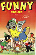 Golden Age (1938-1955):Funny Animal, Funny Frolics #1 (Timely, 1945) Condition: NM-. Morty Monk (amonkey) and Buck Baboon encounter a swastika-wearing dog named...
