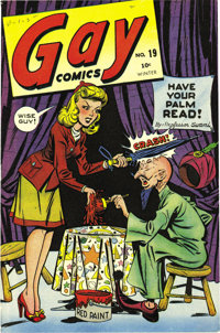 Gay Comics #19 Mile High pedigree (Timely, 1944) Condition: VF/NM. This issue stars Tessie the Typist and Powerhouse Pep...